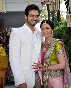 Esha Deol with fiance Bharat Takhtani at their engagement ceremong at her Bungalow in Juhu Mumbai Photo