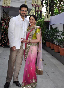 Esha Deol with fiance Bharat Takhtani at their engagement ceremong at her Bungalow in Juhu Photo