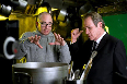 Tommy Lee Jones and Barry Sonnenfeld in Men in Black 3 Photo