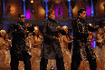 Ajay Devgn Abhishek Bachchan and Amitabh Bachchan Bol Bachchan Movie Song Stills