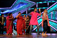 Abhishek Bachchan dancing with mothers of participants at Dance India Dance Little Masters sets in Mumbai Photo