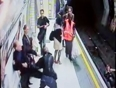 woman pushed on train tracks video