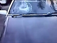 breaking windshield with head video videos