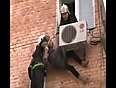 lady gets stuck in ac unit video videos