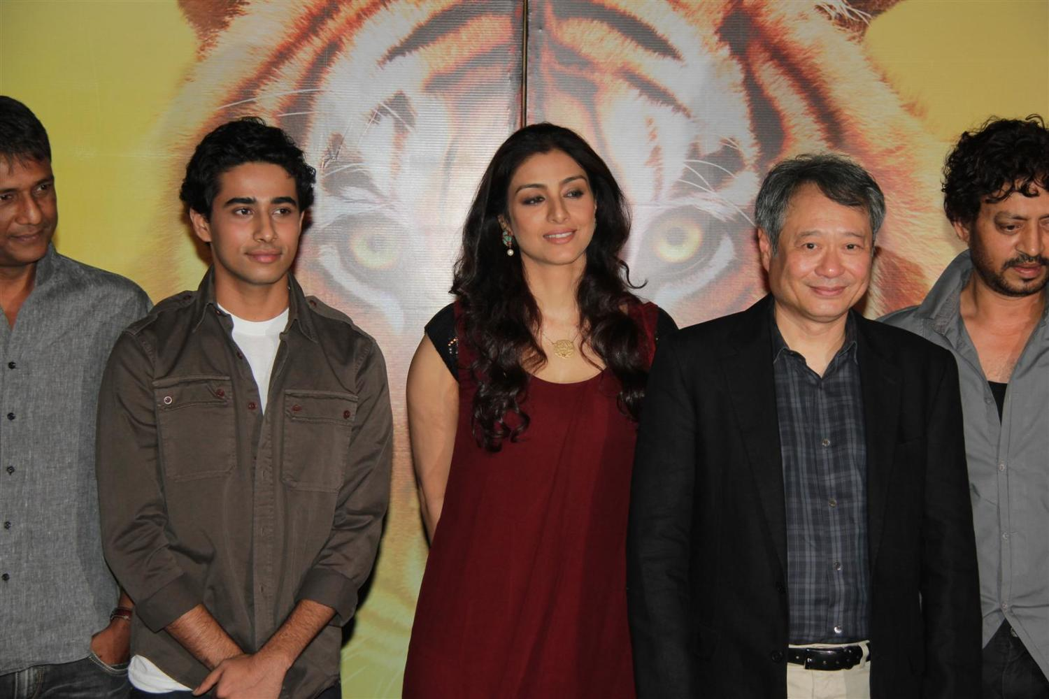 Ang lee suraj sharma tabu at film life of pi press meet in for Life of pi cast