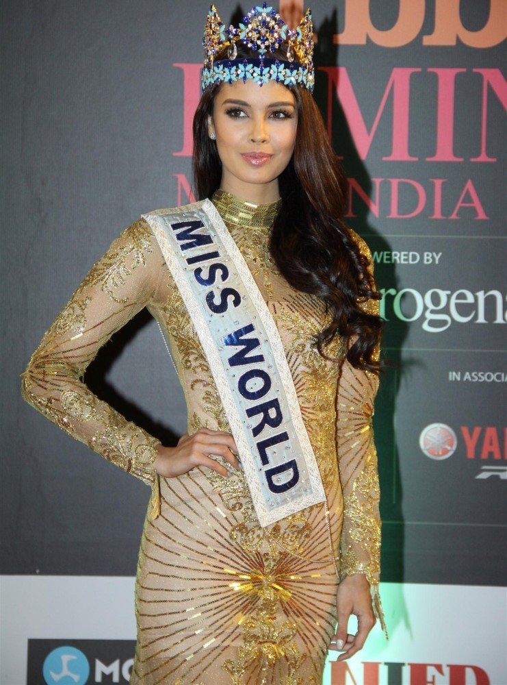 Miss World 2013 Megan Young at the Femina Miss India 2014 event red ...