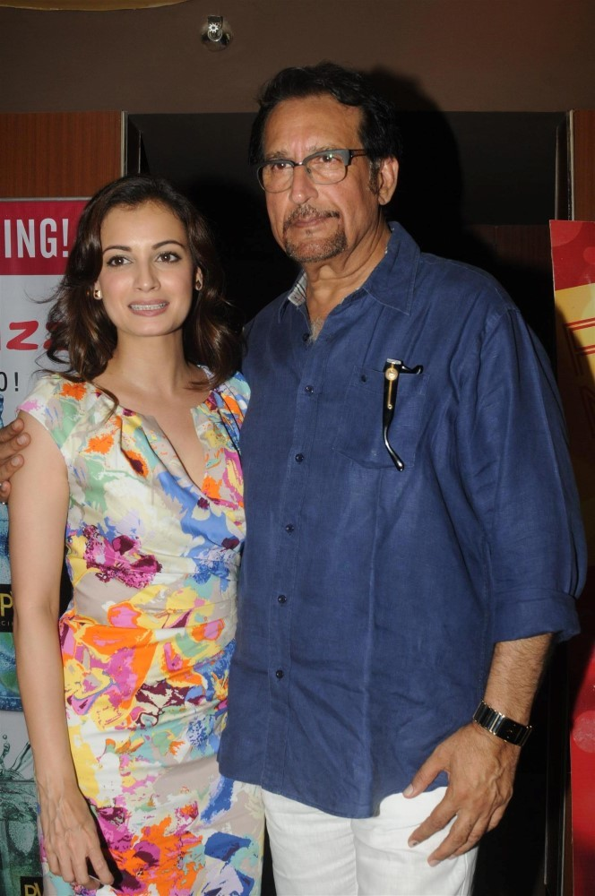 Dia Mirza with veteran actor Kiran Kumar at the first look ...