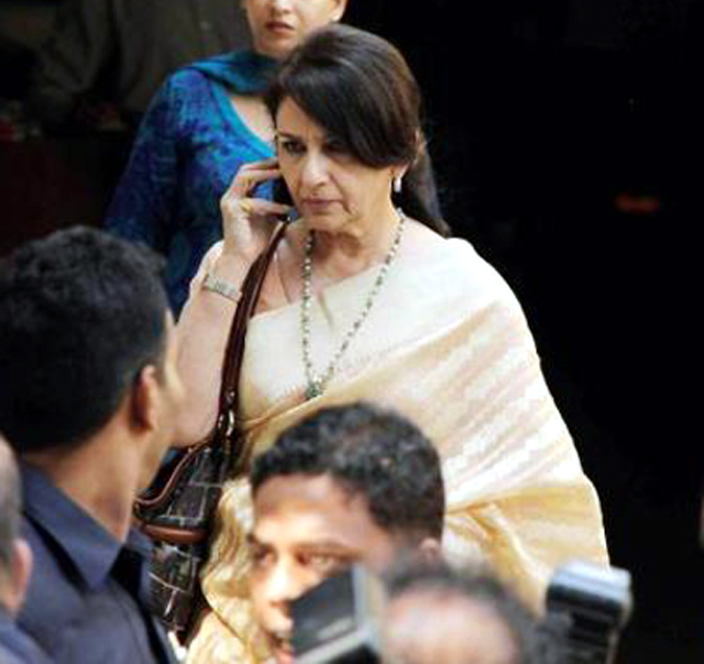 Sharmila Tagore snapped arriving for wedding ceremony of ...