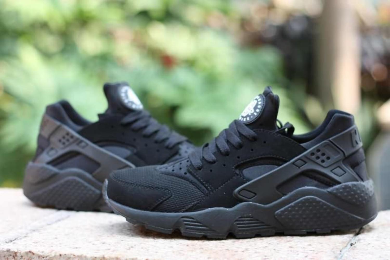 Authentic Nike Air Huarache Men Shoes All Black Hot Sale  www.freerunflash.com offers