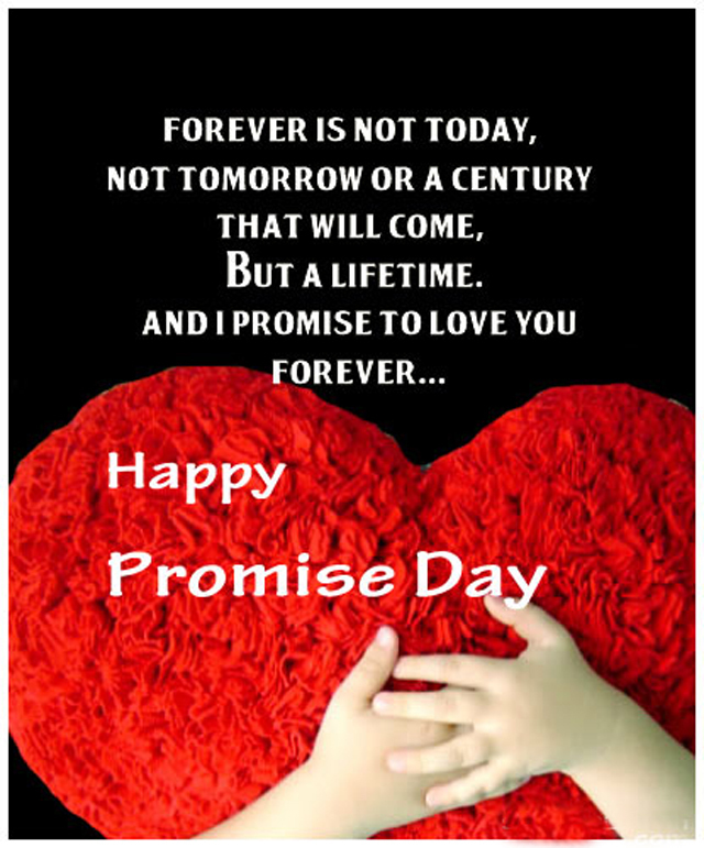 Promise Day Images With Quotes For Friends : Happy promise day message card on