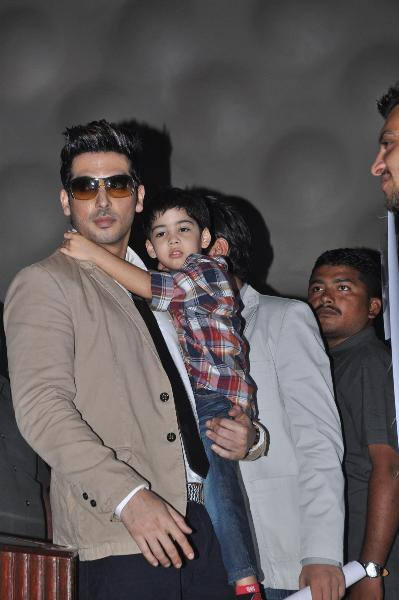 zayed khan with son zidaan rediff bollywood photos on