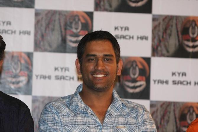 MS Dhoni at film Kya Yahi Sach Hai music release in Mumbai