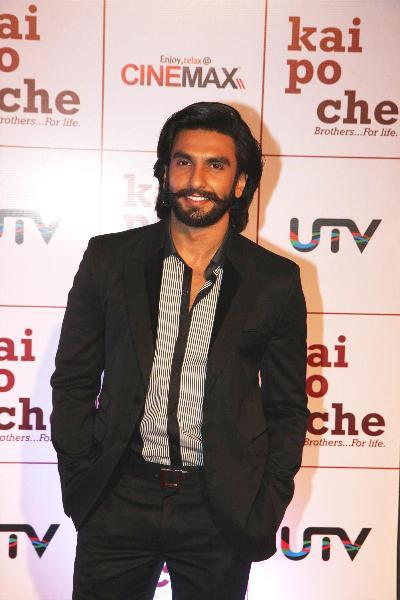 Ranveer Singh at film KAI PO CHE premiere at Cinemax in Mumbai  2