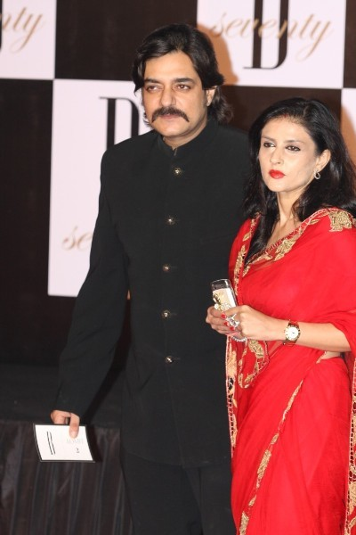 Chandrachur Singh with wife at 70th Birthday Party of Amitabh Bachchan at Reliance Media Works in Mumbai
