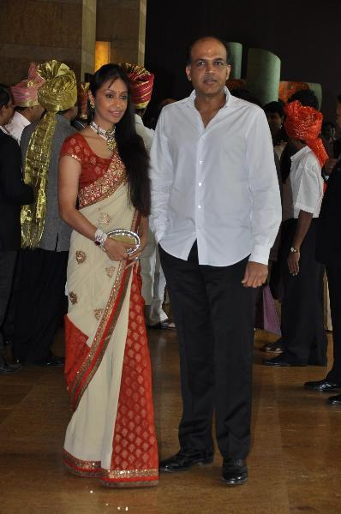 Filmmaker Ashutosh Gowariker with wife Sunita at Ritesh ...