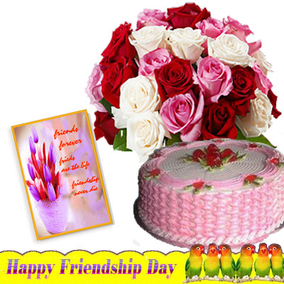 Images Of Cake For Friendship Day : Taj of Friendship : gifts valley on Rediff Pages