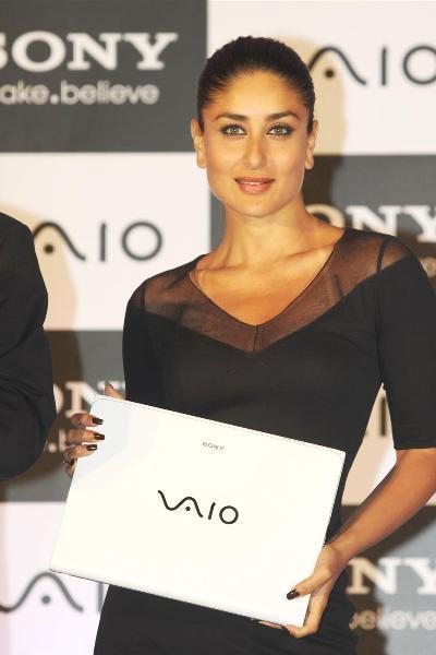 Brand Ambassador Kareena Kapoor at the launch of new range of SONY VAIO laptops in Mumbai photo