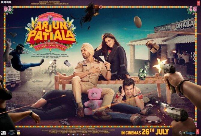 Diljit Dosanjh  Kriti Sanon and Varun Sharma starring Arjun Patiala Movie Photos  1