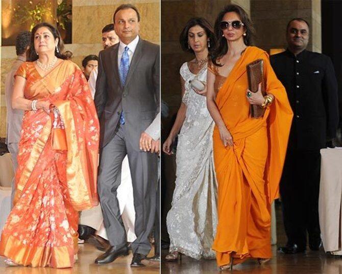 Tina And Anil Ambani Parmeshwar Rej At Genelia Dsouza Ritesh Deshmukh Wedding Photo