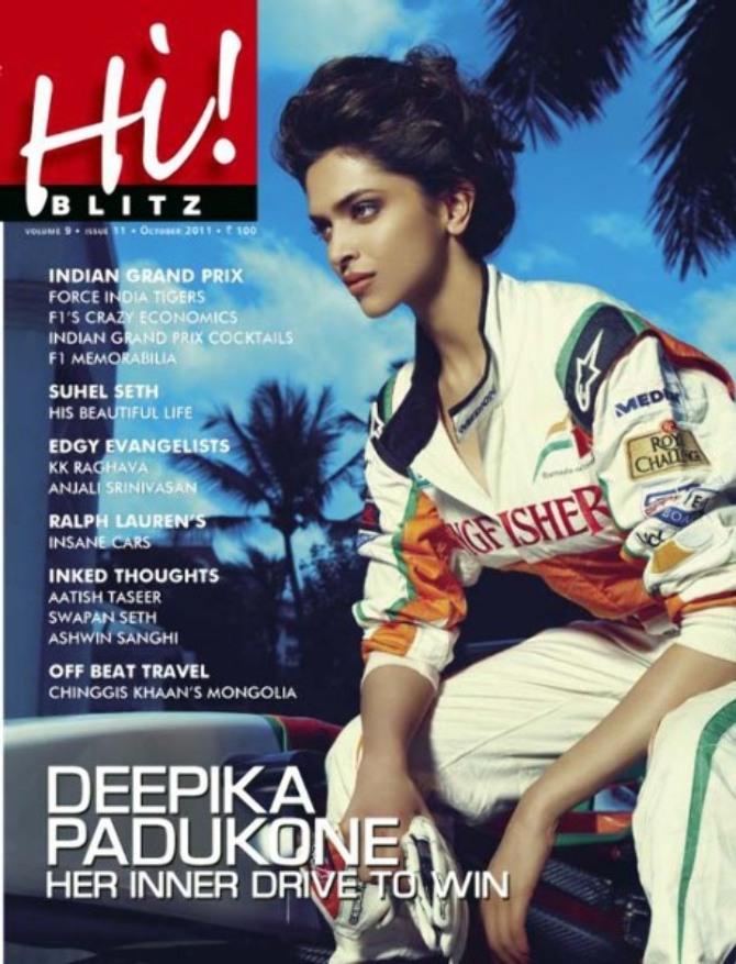 Deepika Padukone Hi Blitz October 2011