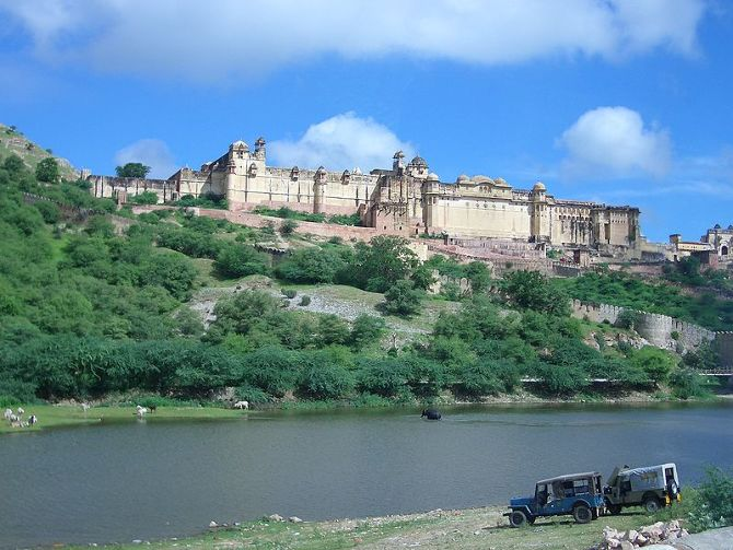 Amber Fort overlooking Maotha lake