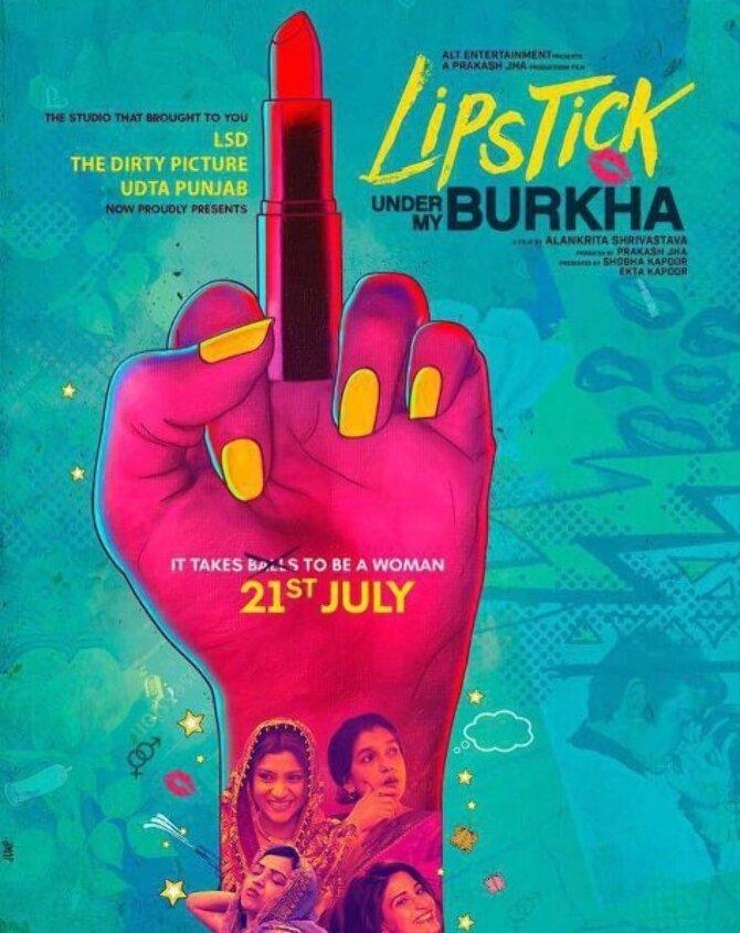 Lipstick Under My Burkha Movie Poster