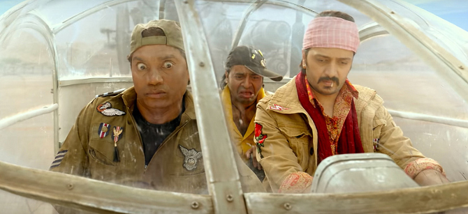 Riteish Deshmukh  Rajpal Yadav   Johnny Lever starrer Total Dhamaal Hindi Movie Photos  23