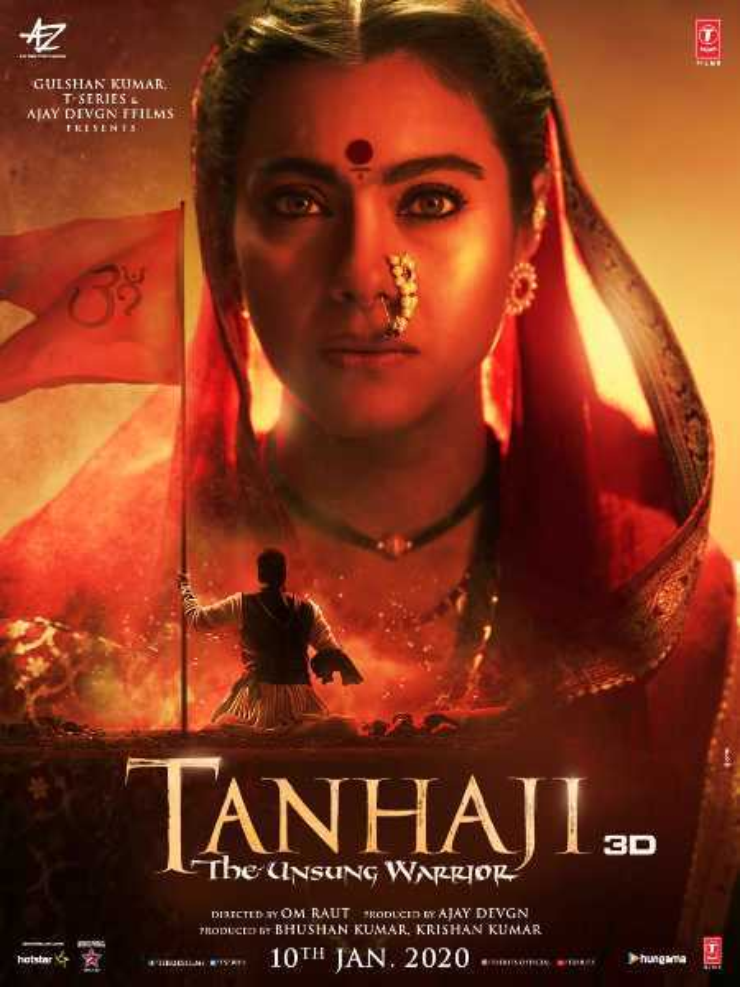 New poster of Tanhaji The Unsung Warrior featuring Kajol