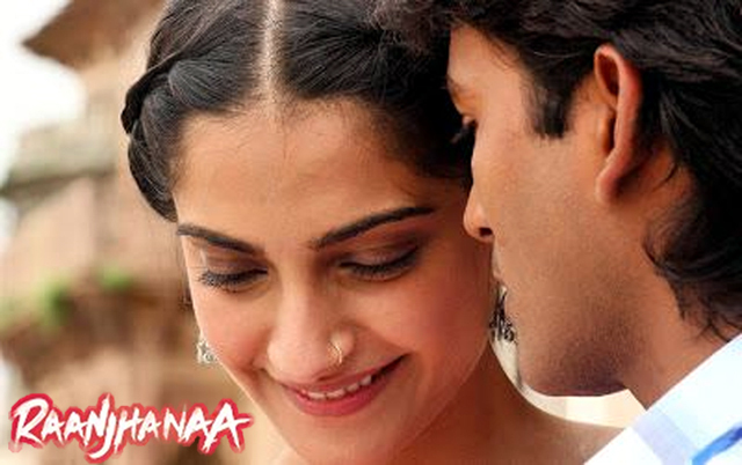 Sonam Kapoor And Dhanush Raanjhanaa Movie First Look