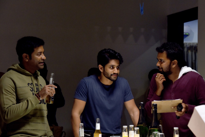 Savyasachi Movie Working Stills  2