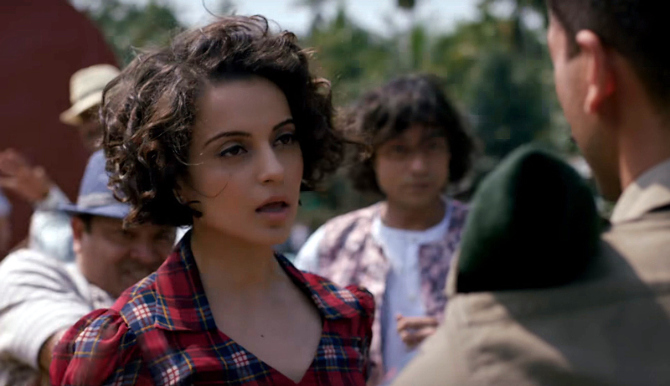 Kangana Ranaut  Shahid Kapoor Rangoon   Movie Tippa Song Stills  9