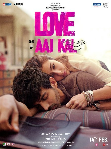 Kartik Aaryan and Sara Ali Khan First look poster of Love Aaj Kal