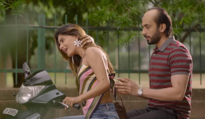 Karishma Sharma   Sunny Singh starrer Ujda Chaman Hindi Movie Photos  18