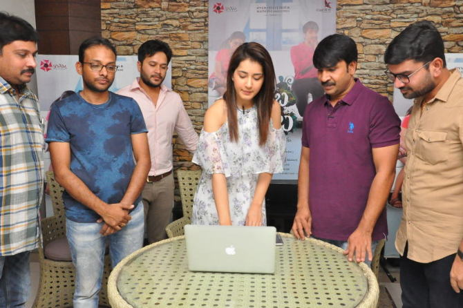 Jamba Lakidi Pamba Movie Lyrical Video song Launch by Raasi Khanna  20