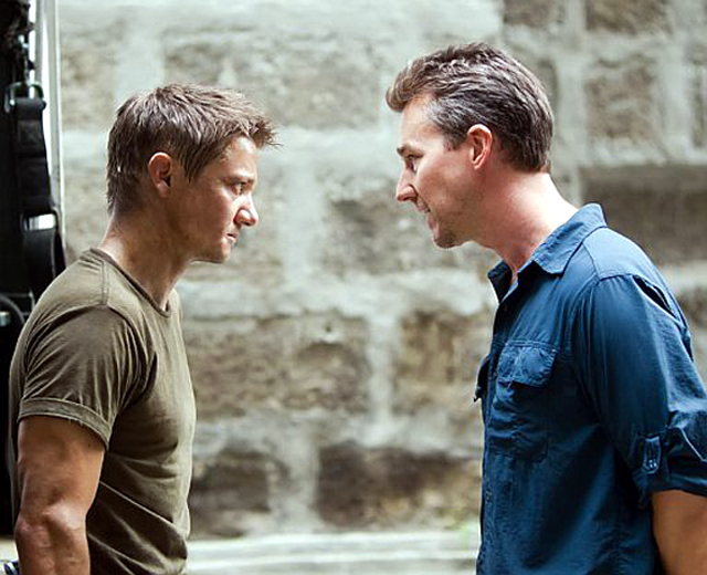 Edward Norton and Jeremy Renner in The Bourne Legacy Photo